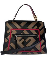 Fendi - Black And Brown Leather Small Runaway Bag - Lyst d22666d1b66c0