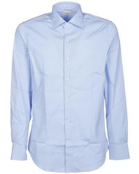 Bagutta Cotton Poplin Shirt - Blue