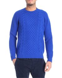 Drumohr Pullover tricot blu elettrico