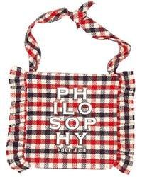 Philosophy Di Lorenzo Serafini Logo Bag - Red