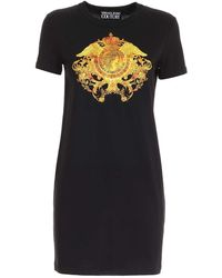 Versace Jeans Couture Rococo Pattern Dress - Black