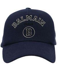 Balmain Cappello Logo Blu