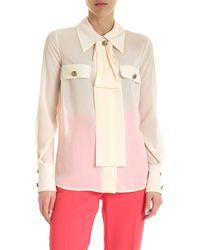 Elisabetta Franchi Camicia Semitrasparente Color Crema - Neutro