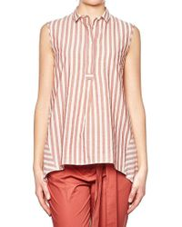 Eleventy - Red And White Striped Top - Lyst