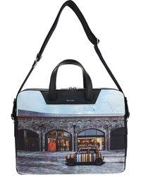 Paul Smith Car Print Laptop Bag - Multicolor
