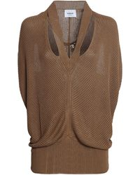 Dondup Knitted Maxi Sleveless Sweater - Brown