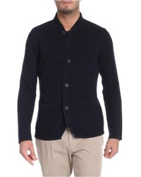 Paolo Pecora - Blue Cardigan With Patch Pockets - Lyst