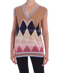 Ballantyne Diamond Airbrush Vest - Multicolour