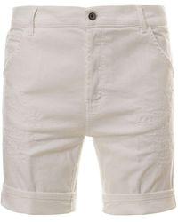 Dondup White Cotton Bermuda Shorts