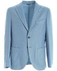 L.B.M. 1911 Single-breasted Jacket - Blue