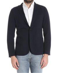 Eleventy - Blue Single-breasted Jacket - Lyst