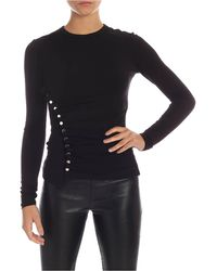 Paco Rabanne Silver Buttons Jumper - Black