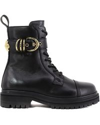Versace Jeans Couture Strap Ankle Boot - Black