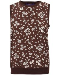 Ralph Lauren Wool Silk Sleeveless Jumper - Brown