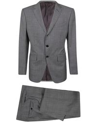 Tom Ford Prince Of Wales Check Two-piece Suit - Grey
