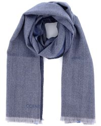 Corneliani Virgin Wool Scarf - Blue