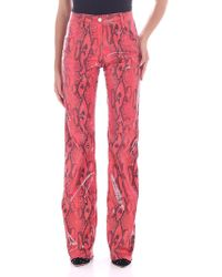 MSGM - Snakeskin Effect Trousers - Lyst