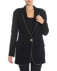 Alexander Wang Black Coat With Applied Zip