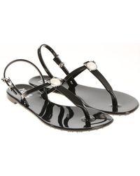 Karl Lagerfeld - Black Jelly Karl Pearl Thong Sandals - Lyst