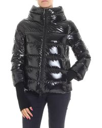 Herno Black Cowl Neck Down Jacket