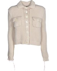 Maison Margiela Knitted Cardigan - Natural