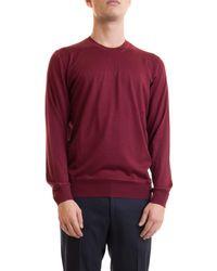 Corneliani Cashmere Blend Crewneck Sweater - Red