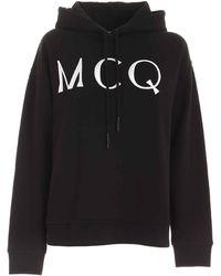 McQ Logo Embroidery Sweatshirt - Black