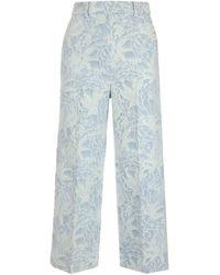 MSGM - Jeans Jacquard Azzurri - Lyst