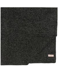 Twin Set Ribbed Scarf - Black