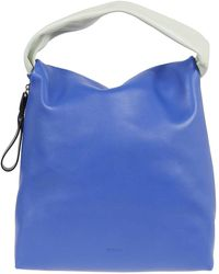 Jil Sander Soft Crush M Tote Bag - Blue