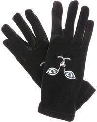 Vivetta - Black Heise Cat Embroidered Gloves - Lyst