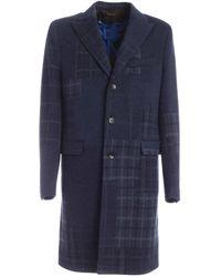 Etro Single-breasted Long Coat - Blue