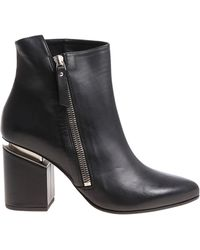 Vic Matié - Black Pointy Ankle Boots - Lyst