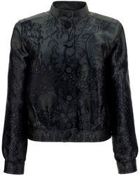 Giorgio Armani Silk-blend Jacket - Black