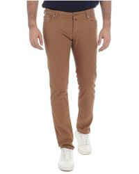 Jacob Cohen Stretch Cotton Brown Trousers
