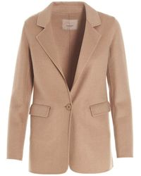 Twin Set Double Cloth Jacket - Natural