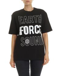 McQ - T-Shirt Earth Force Sound Nera - Lyst