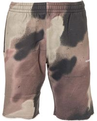Off-White c/o Virgil Abloh Stencil Arrows Camouflage Shorts - Brown