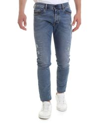 f44345f0 DIESEL Tepphar 0845f Slim-fit Faded-wash Jeans in Blue for Men - Lyst