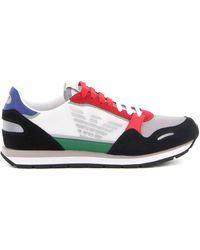 Emporio Armani - Colour-block Sneakers - Lyst