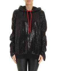 Marcelo Burlon Sequins Effect Sweatshirt - Black