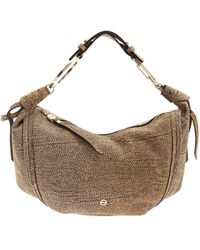 Borbonese Op Print Shoulder Bag - Brown