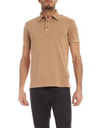 Ballantyne Cotton Polo Shirt - Brown