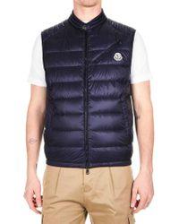 Moncler - Arv Down Jacket In Blue Nylon - Lyst