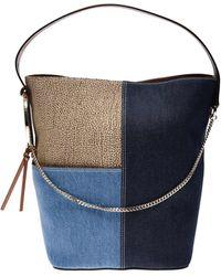 Borbonese Medium Etoile Bucket - Blue