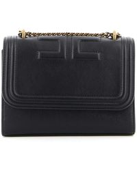 Elisabetta Franchi Quilted Faux Leather Cross Body Bag - Black