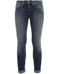 Dondup George Stone Washed Jeans - Blue
