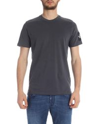 The North Face T-shirt In Gray With Logo Label