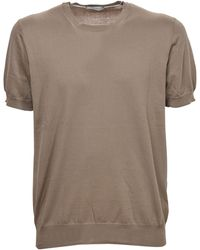 Paolo Pecora Knitted T-shirt - Natural