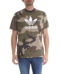 30192e8e Lyst - adidas Originals Camouflage T-shirt in Green for Men